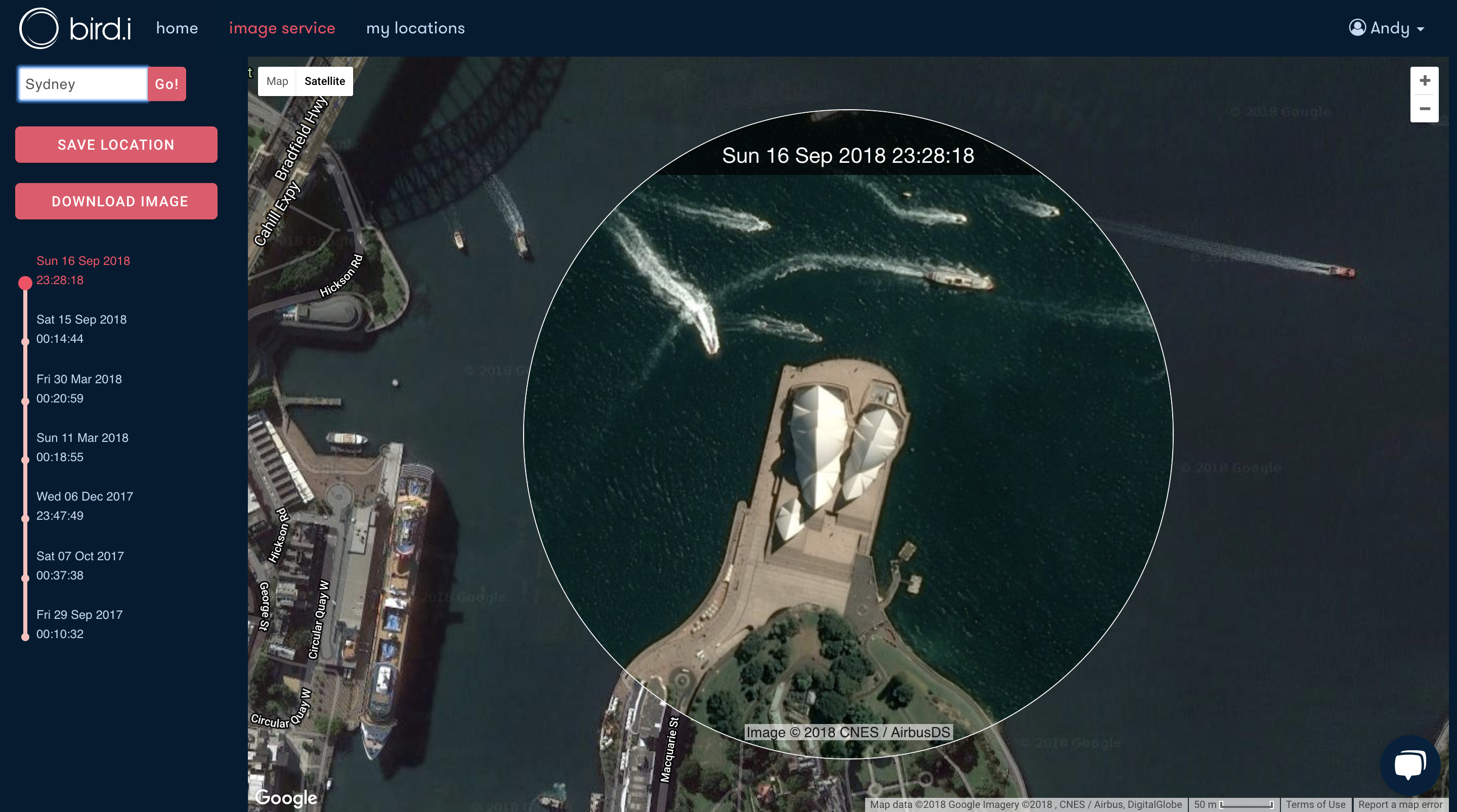 Sydney Opera House Satellite Image